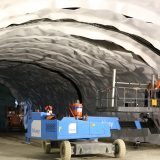 Rockbolting is essential in tunnel construction.