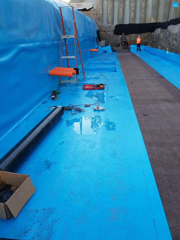 Substation Waterproofing with BluSeal PVC