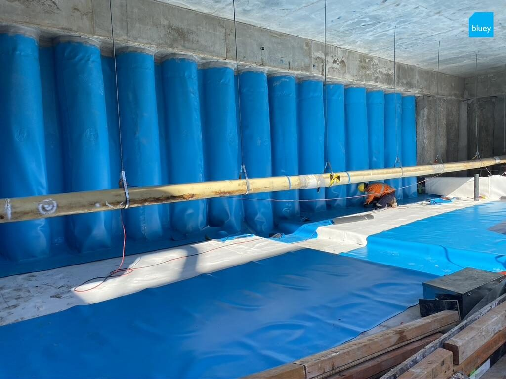 BluSeal PVC Tunnel Liner membrane