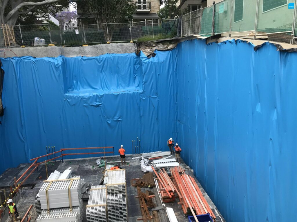 Basement Waterproofing with BluSeal PVC