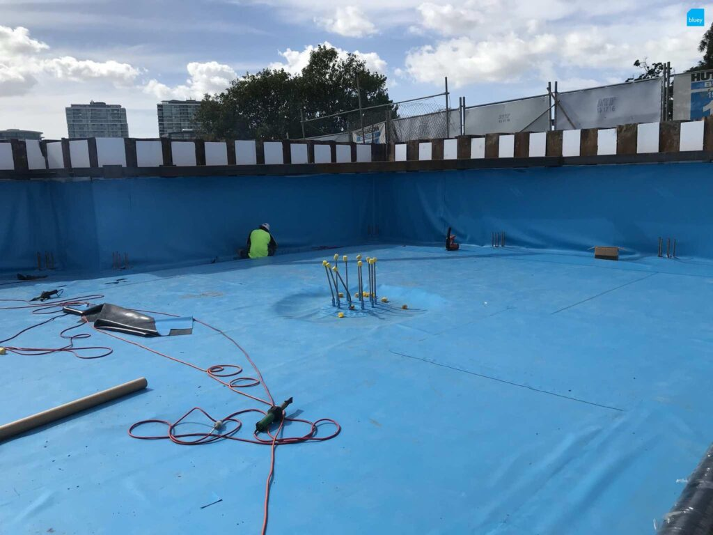 Basement Waterproofing the Boatyard Appartments with BluSeal PVC