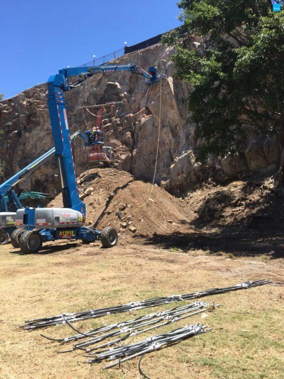 Cliff Stabilisation Works Using BluGeo GRP60
