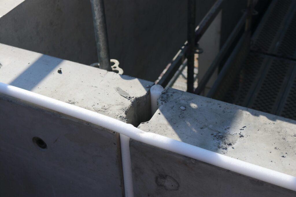 Precast panel grouting with our thixotropic grout - BluCem HS400