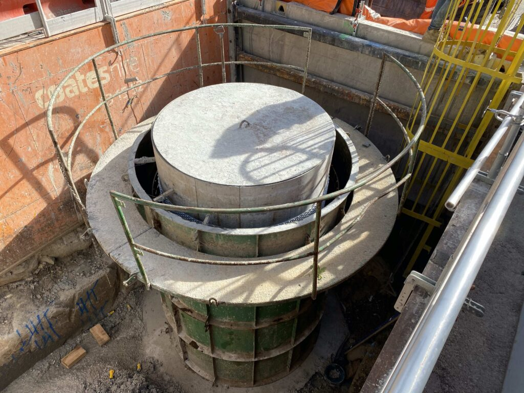 Manhole Lining with BluSeal AKS, anchor knob sheet