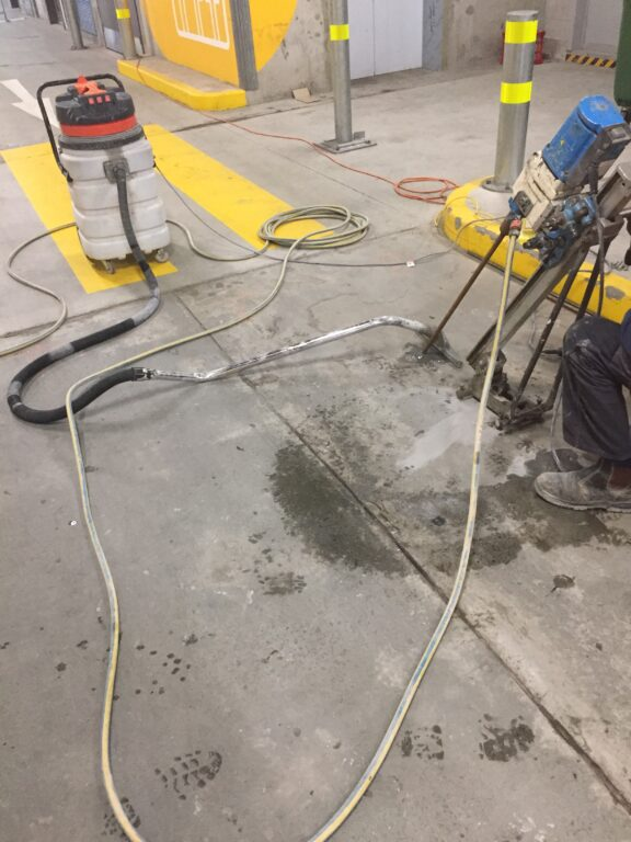 BluRez CSW Polyurethane Injection into basement slab