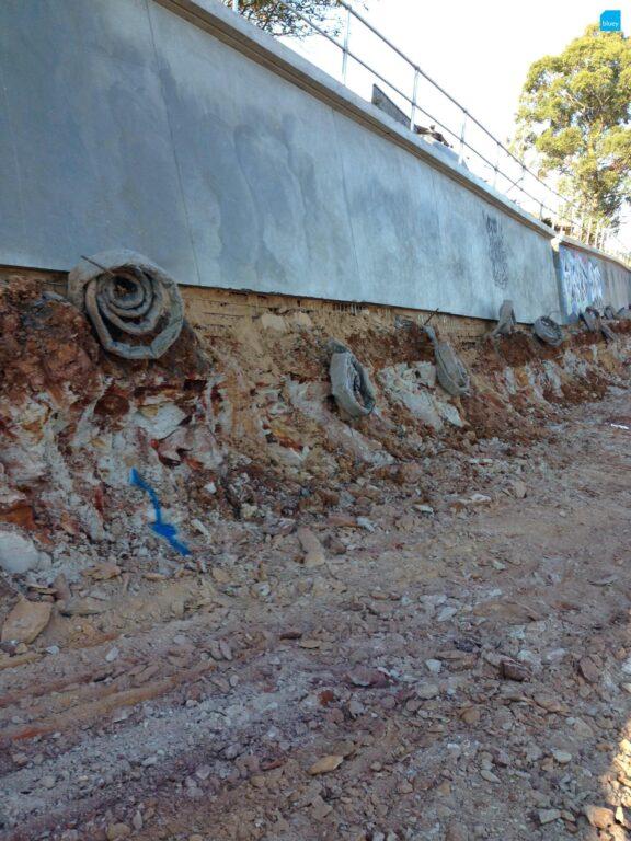 Gosford Rail Loop Retaining Wall