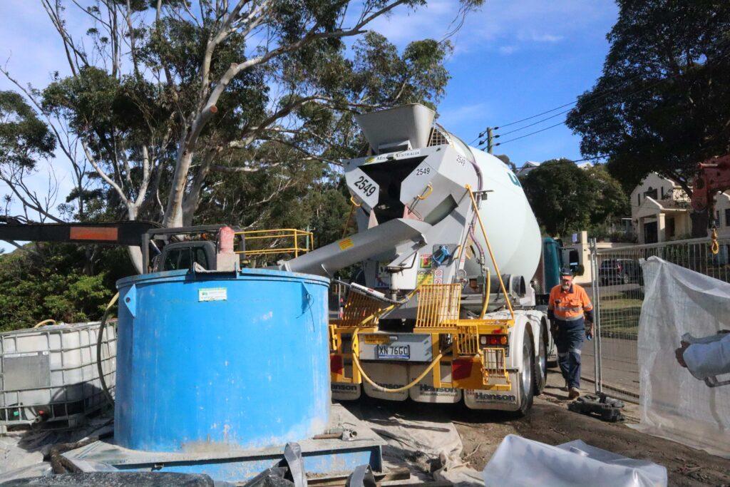 Culvert Grouting using Ready Mix Concrete Agitators