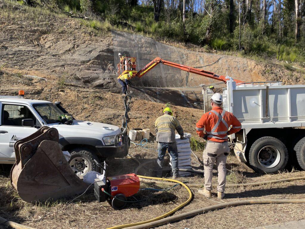 Slope Stabilisation, ZeoGlass, Contaminated Ground