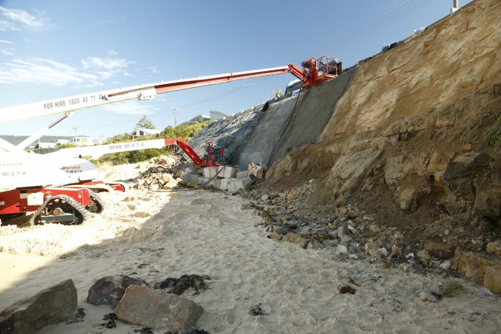 Slope Stabilisation with The RIX Group at Woonona, NSW